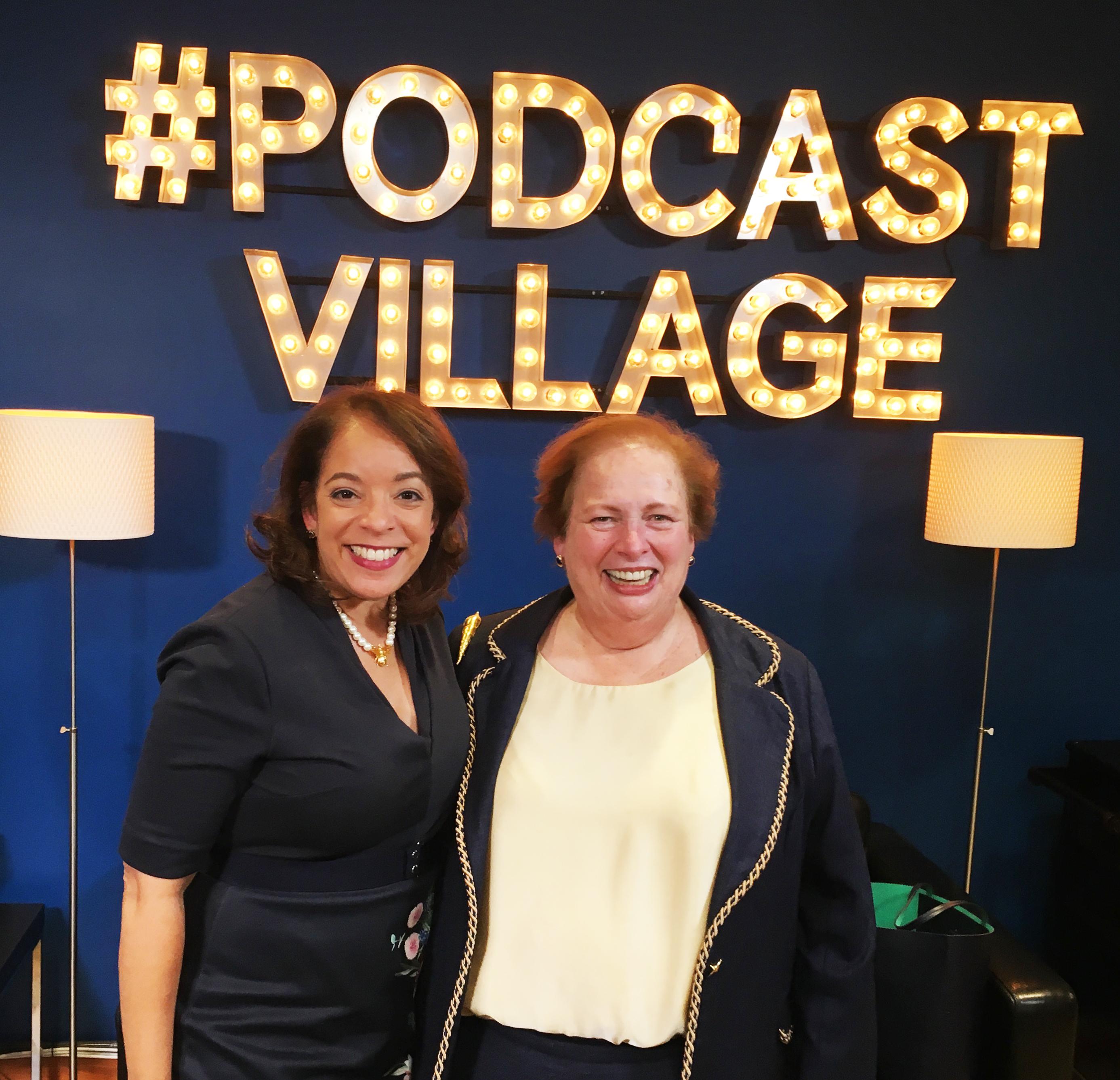 Alejandra Y. Castillo with Ambassador Aponte