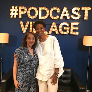 Alejandra Y. Castillo and Blanche A. Williams in the recording studio