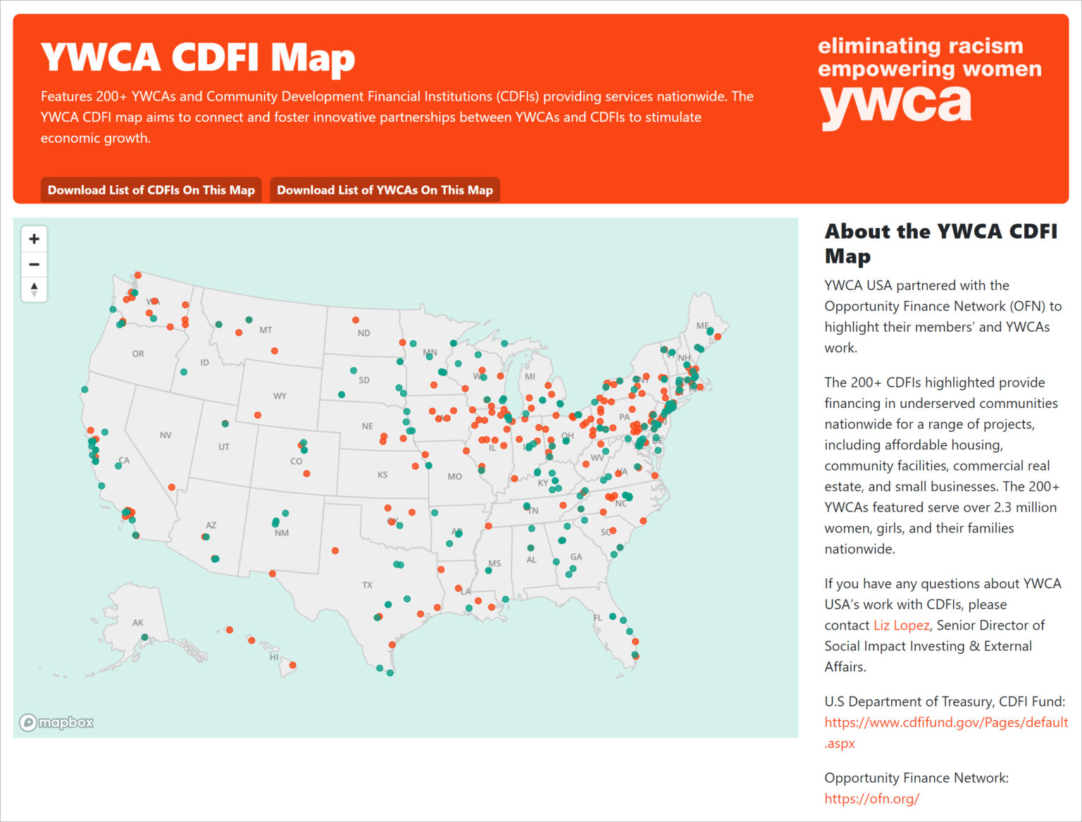 Catalysts for Change Introducing the YWCA CDFI Map