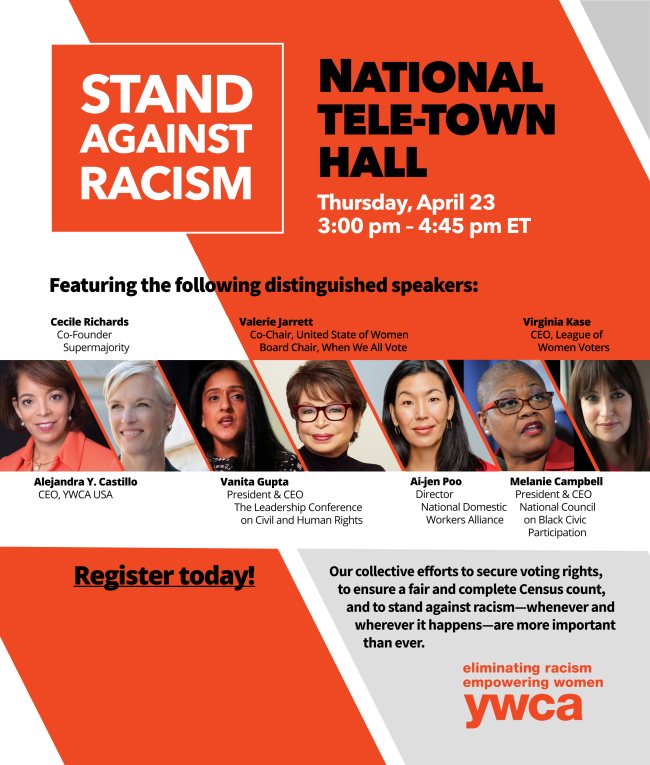Join Us for the 2020 Stand Against Racism National Tele-Town Hall