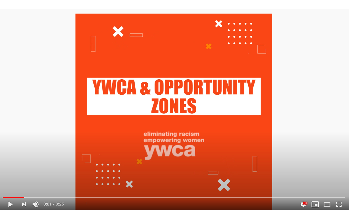 YWCA Opportunity Zones Map Video